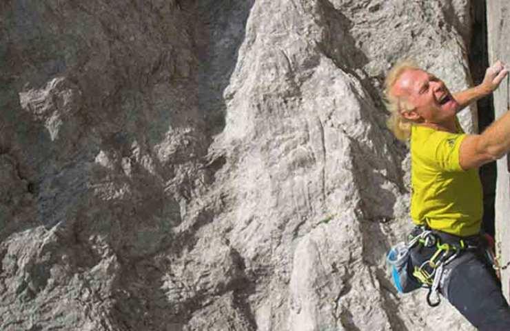 Kletterlegende Beat Kammerlander begeht Kampfzone (8c) im Rätikon