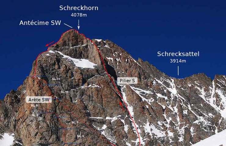 New alpine tour at the Schreckhorn: joyfulness