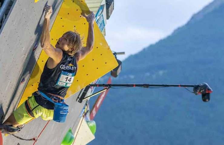 Alexander Megos gewinnt Gold am Lead-Weltcup in Briançon