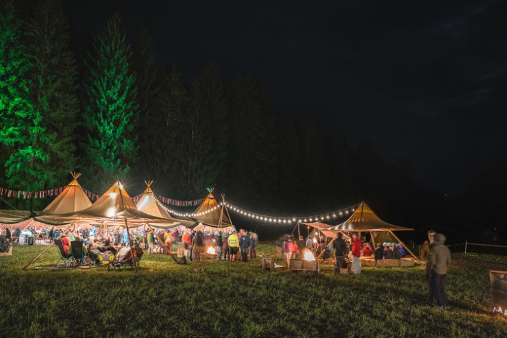 Das Zeltlager am Transa Outdoor Festival in Flims Laax