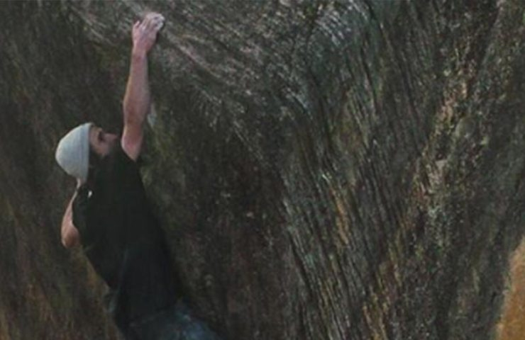 Daniel Woods climbs The Finnish Line (8c) in the Rocklands