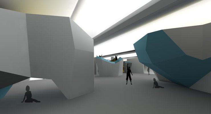Visualisierung der Boulderlounge in Sankt Gallen