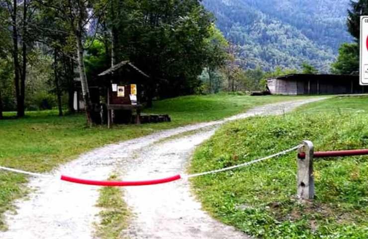 Parkplatz im Trad-Klettergebiet Cadarese für Autos und Camper gesperrt