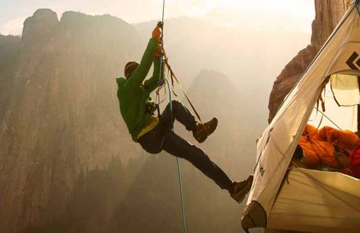 Premiere of the climbing movie The Dawn Wall at the Verkehrshaus Luzern