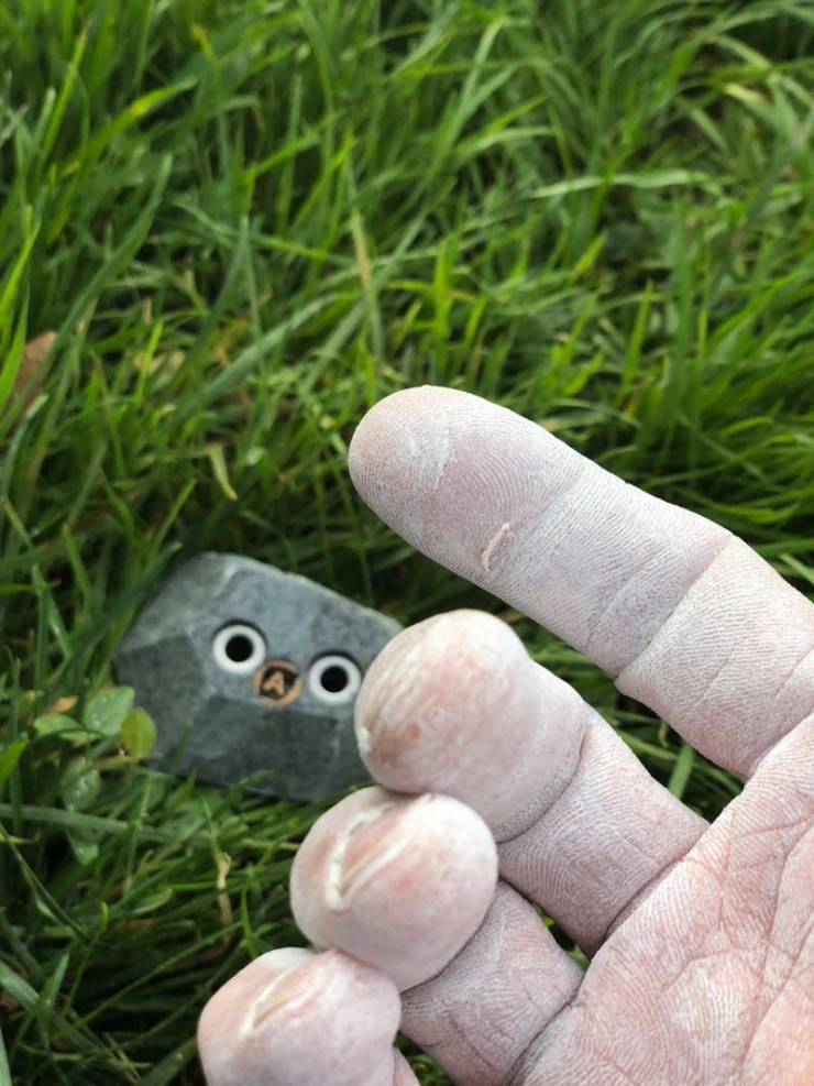 Wie am Fels - das Gefühl als auch die Belastung für die Haut