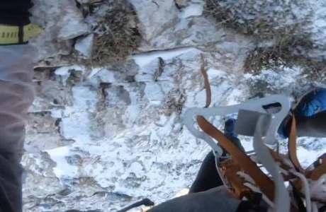 Haarsträubende Feierabendtour in Turnschuhen und mit Eispickel