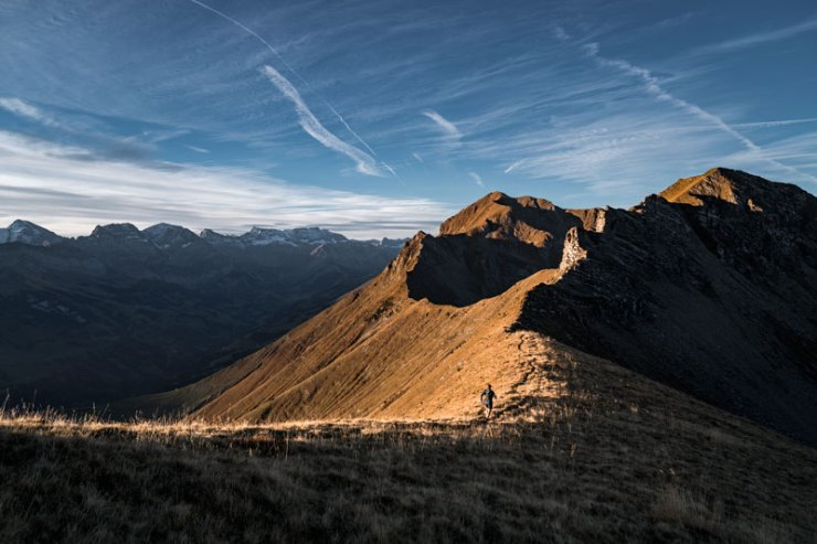 Wer Projekte wie Nicolas hat, muss viel trainieren. So wie hier auf der Niesenkette. (Bild D. Bleuer)