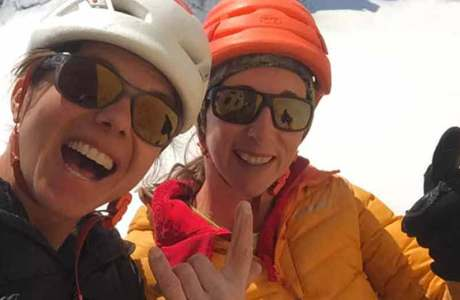 Nina Caprez: Begehung der schweren Mehrseillängentour La Voie Petit am Grand Capucin