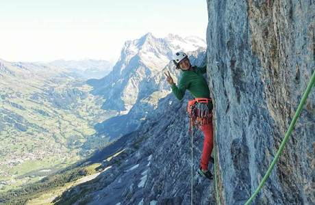 Katherine Choong klettert Eiger-Route Deep Blue Sea onsight