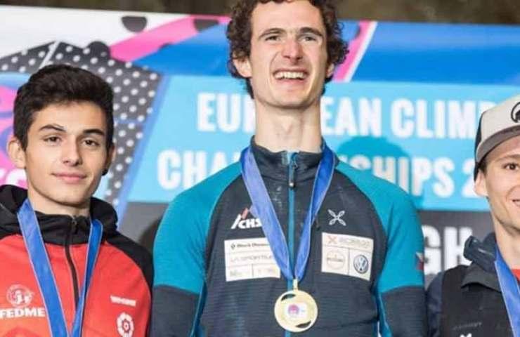 Adam Ondra und Lucka Rakovec gewinnen die Europameisterschaft in Edinburgh