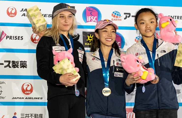 Jain Kim and Hiroto Shimizu win at the IFSC World Cup in Inzai