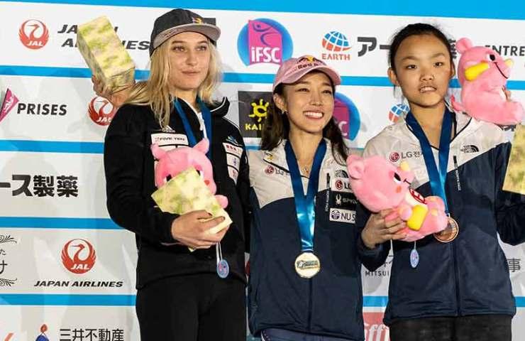 Jain Kim und Hiroto Shimizu gewinnen am IFSC-Weltcup in Inzai