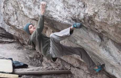 Tom Lindinger bouldert erstmals 8c: Bokassa's Fridge