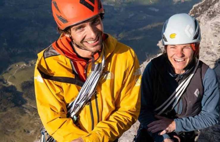Babsi-Zangerl-und-Jacopo-Larcher-climbing-Odyssey-_1400m_-in-one-day
