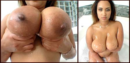 milk engorged breasts