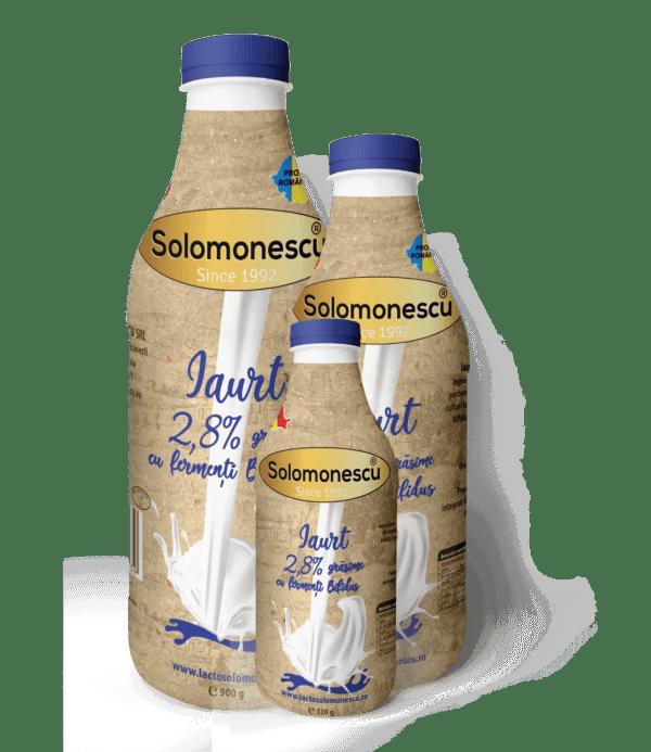 Iaurt din lapte de vacă 2,8% grăsime cu fermenți Bifidus
