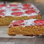 Torta FIT con fragole