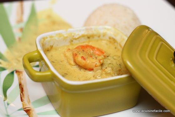 curry de crevettes express en mini