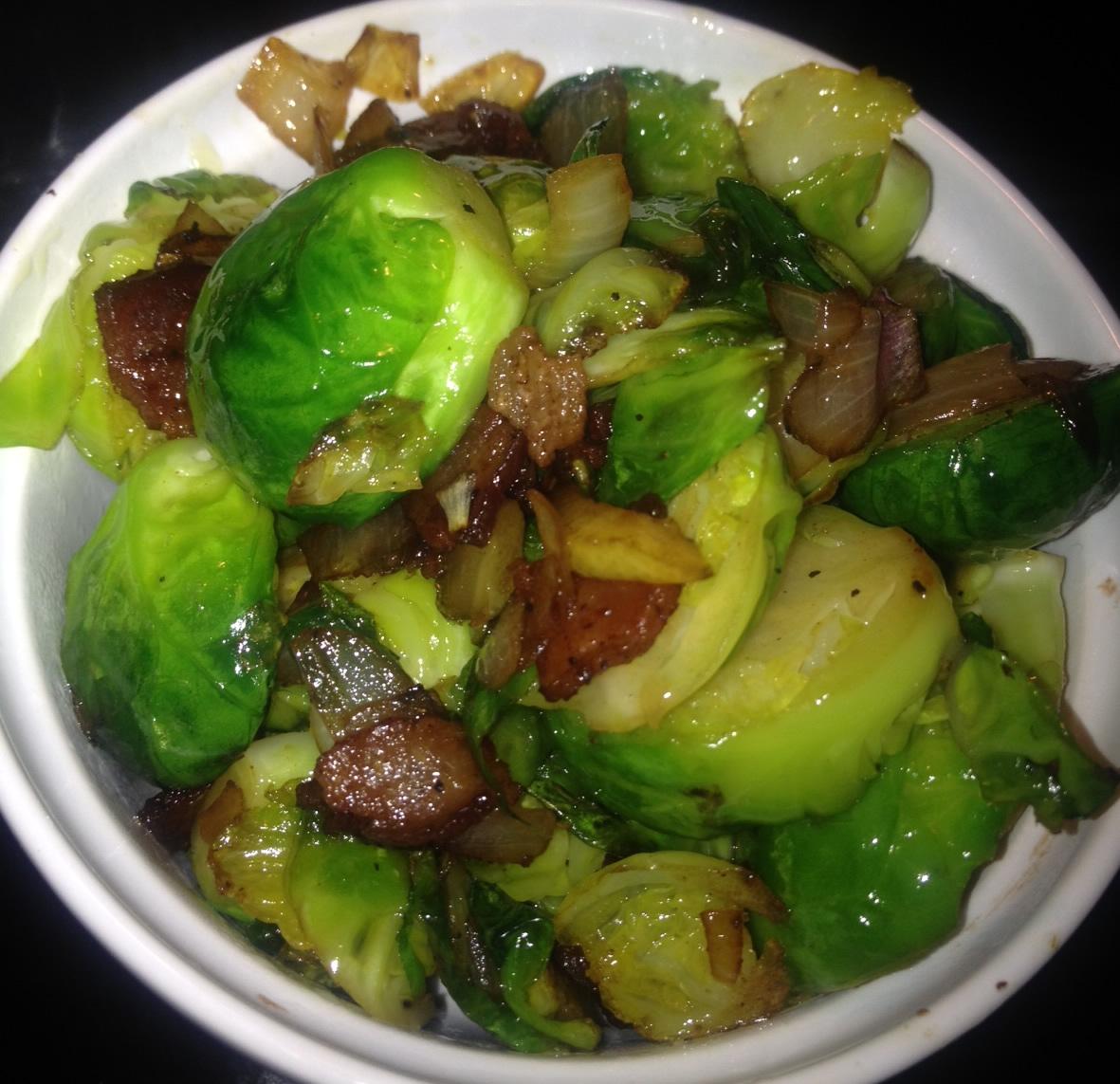 Brussel sprouts with baconla cuisine minuscule for Cuisine minuscule