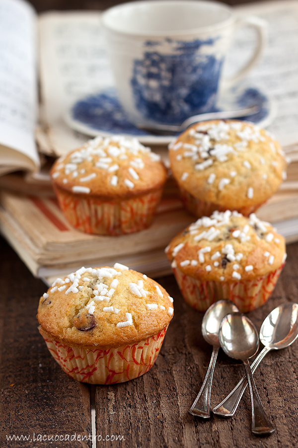 muffin yogurt e mirtilli