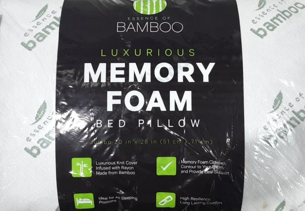 bamboo pillow 20inx28in