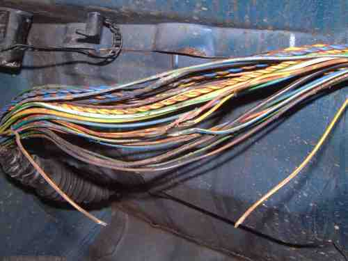 small resolution of when harness is unwrapped many torn completely broken or fused wires become evident