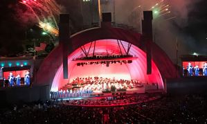 The Hollywood Bowl with fireworks