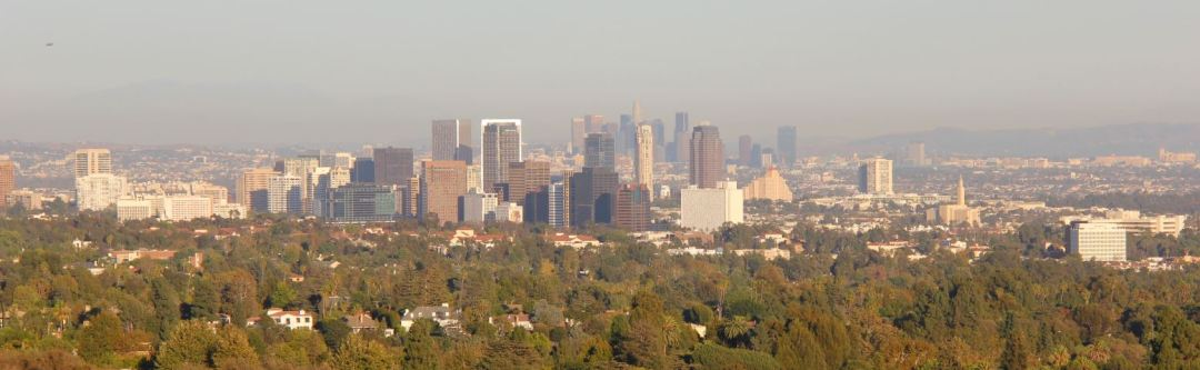 View of Century City and Downtown LA