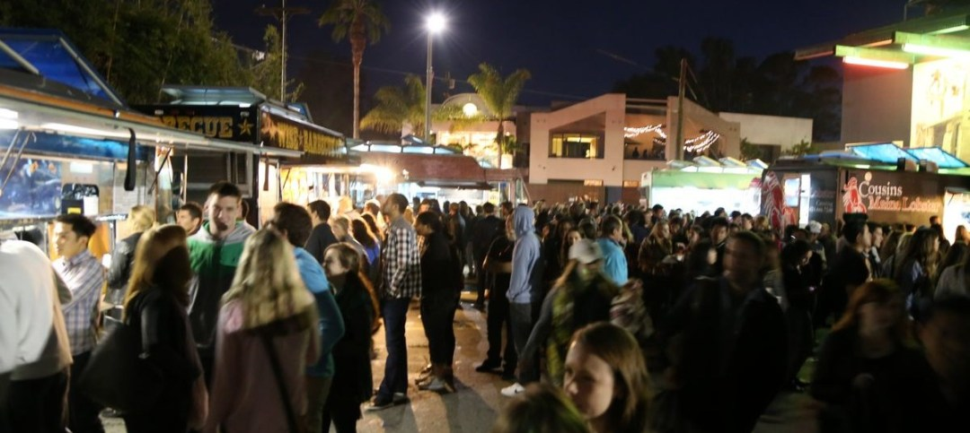 First Friday food trucks on Abbott Kinney