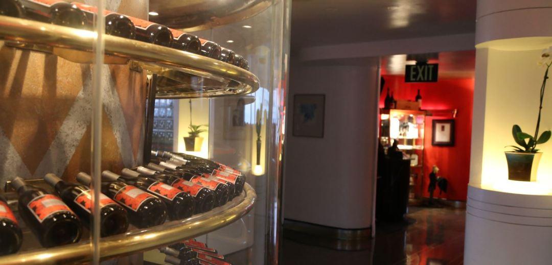 Wine rack at the Skyroom