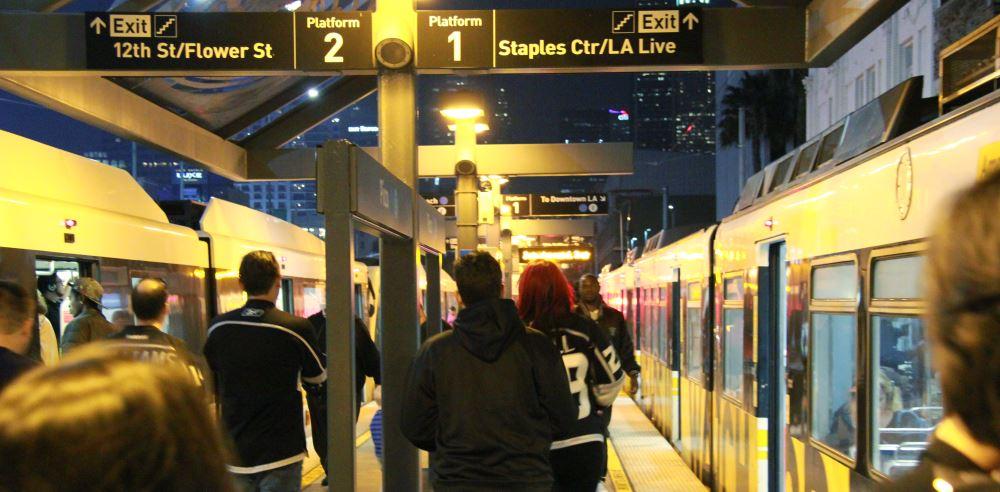 Metro train to LA Live