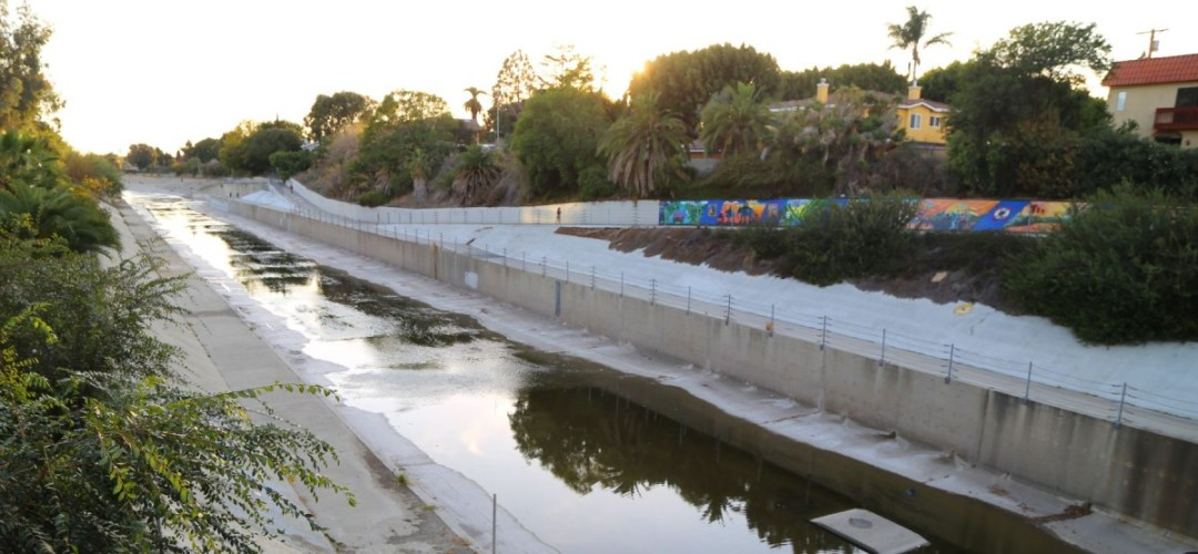 Ballona Creek bike path near Duquesne