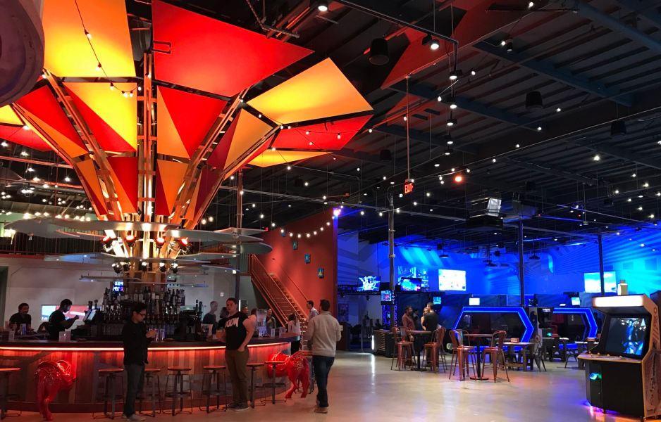 Bar and games at Two Bit Circus