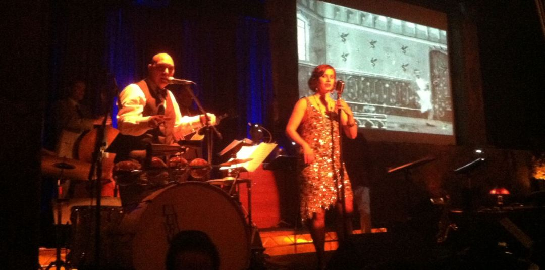 The New Recessionaires swing band at the Edison