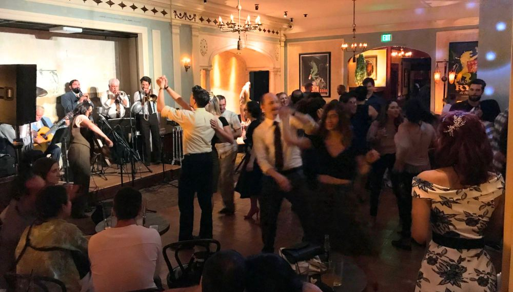 Swing dancing at Clifton's