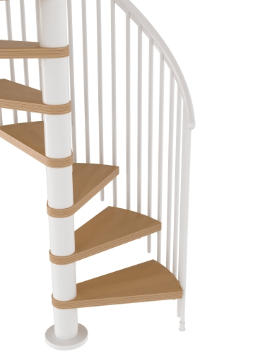 Deluxe Spiral Staircase Loft Kit 1200Mm 1400Mm Diameter | Dolle Calgary Spiral Staircase