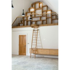 Kitchen Ladder Open Metal Shelving Rolling Library Ladders Ladderstore Com In Vaulted Area Of From Peter