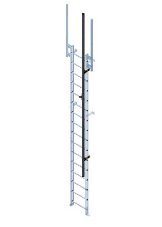 Steel Fixed Vertical Access Ladder With Walkthrough & Fall