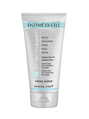 Enzyme Ex-Cell Gentle Exfoliating Facial Scrub and Aging Skin Pore Minimizer