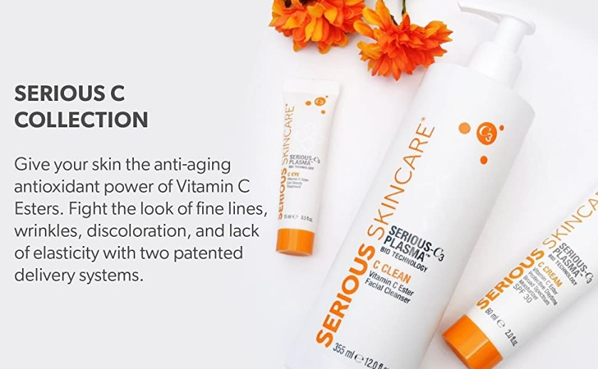 serious c, collection, vitamin C, anti-aging, wrinkles, fine lines, discoloration, elasticity, skin