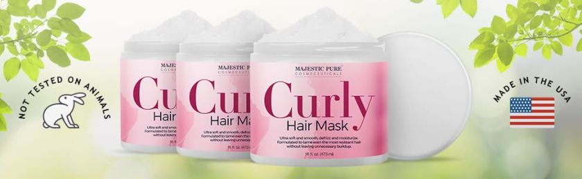 majestic pure curly hair mask masque deep conditioner tangled dry damaged natural best top premium