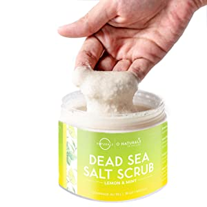 dead sea salt scrub, salt scrub for face, exfoliating body scrub, natural body scrub
