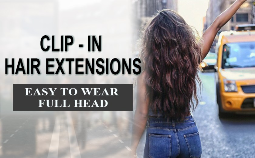 Long Wavy Hair Extensions Clip in Black Hair Extensions Synthetic Hair pieces for Women Girls