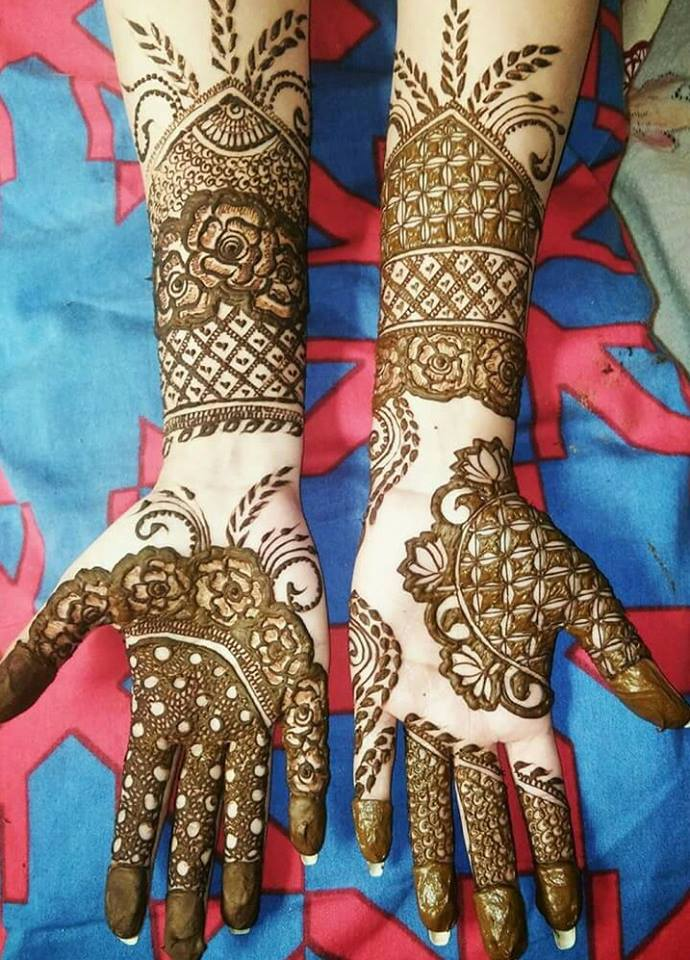 Awesome Hand Floral Style Mehndi Designs Fashion Beauty