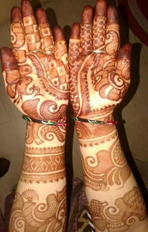 Unique Bridal Mehndi Design for Hands  Fashion Beauty Mehndi Jewellery Blouse Design