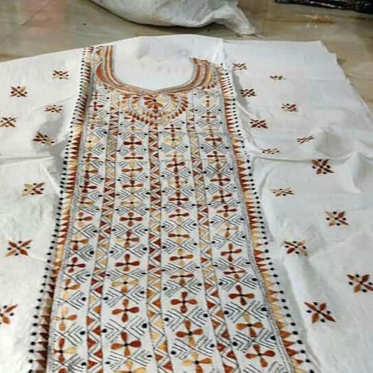 Kantha Embroidery Kurta Material