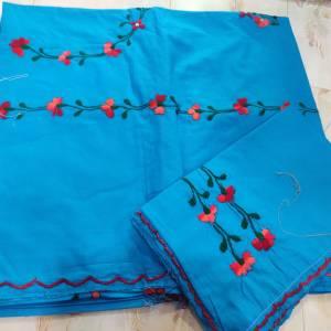 Kantha Stitched Bedsheet
