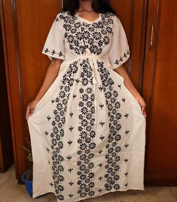 Kantha stitched Kaftan