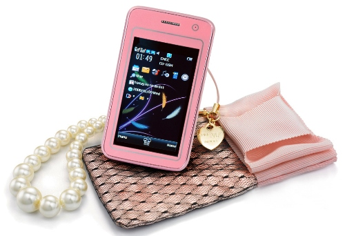 6d1dd466c4d Ladies  GadgetsNew Pink Touchscreen Cell Phone Available for a Low ...