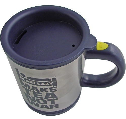Mug That Stirs Your Drink at the Press of a Button